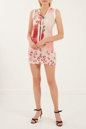 Мини-платье с цветочным узором