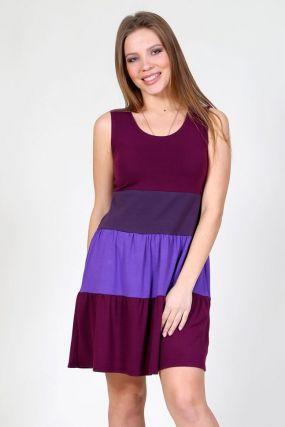 Платье вискозное Саломея (фиолетовое)