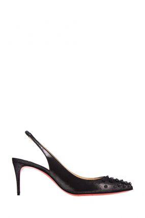 Кожаные туфли с шипами Drama Sling 70