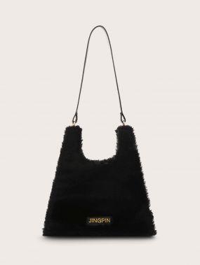 Плюшевая сумка-тоут из искусственного меха