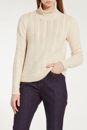 Кашемировый свитер с отделкой