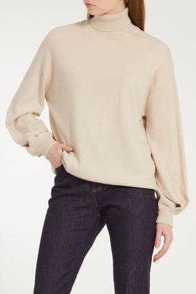 Бежевый кашемировый свитер