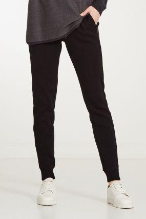 Черные брюки с люрексом