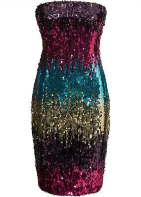 Платье бандо с пайетками