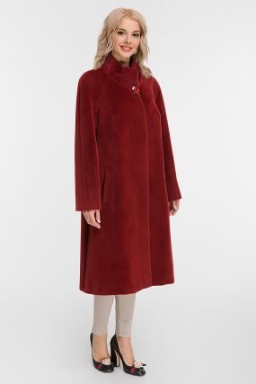 Расклешенное длинное пальто реглан