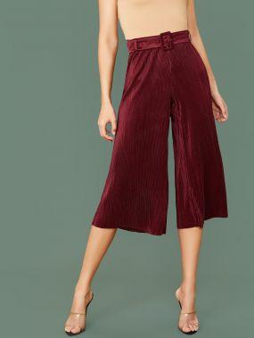 Плиссированные брюки с поясом