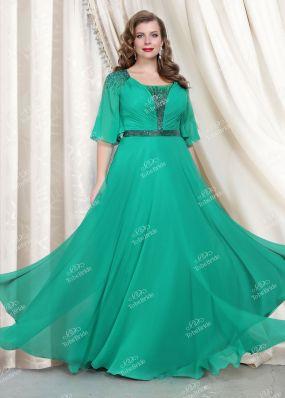 Вечернее платье, расшитое стеклярусом CH0081BY1