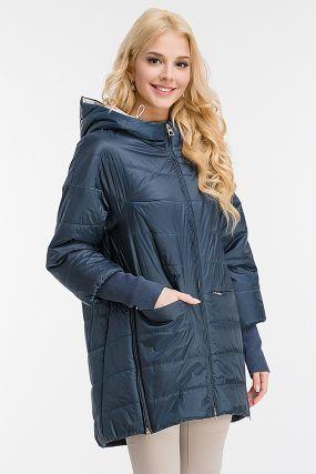 Длинная утепленная женская куртка с капюшоном