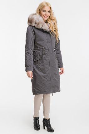 Пальто из Италии на зиму с капюшоном