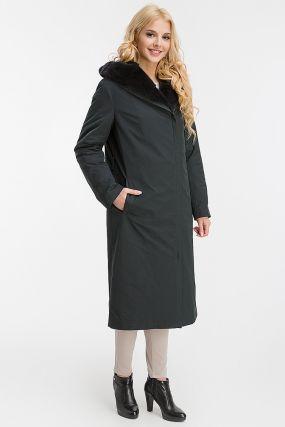 Итальянское зимнее пальто на меху бобра