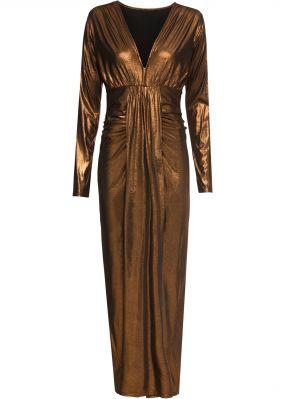 Платье макси из ткани металлик