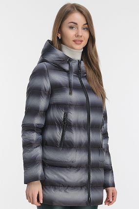 Удлиненная куртка на осень с капюшоном