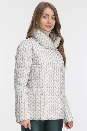 Демисезонная женская куртка прямого кроя