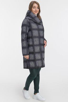 Прямое женское пальто в клетку