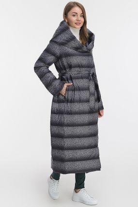 Длинное пальто осень-зима с капюшоном