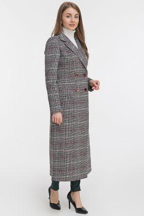 Классическое приталенное длинное пальто из шерсти