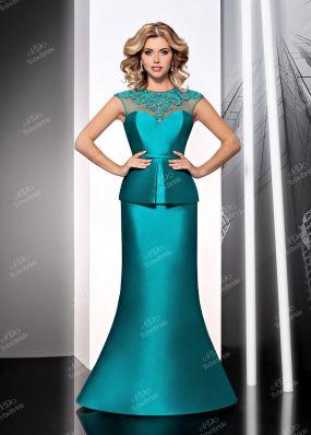 Лазурное вечернее платье KP0387BY1