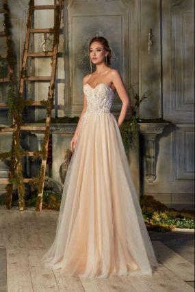 Свадебное платье с расшитым корсетом ZBW003