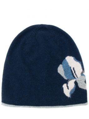 Кашемировая шапка с узором