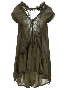 Платье-накидка с рюшами