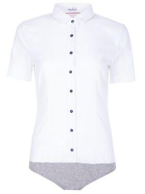 Хлопковая рубашка-боди