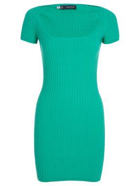 Трикотажное платье-мини