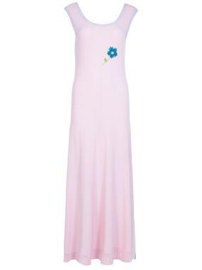 Платье трикотажное в пол