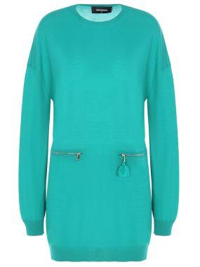 Шерстяная туника-платье