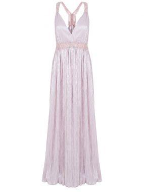 Платье с эффектом металлик