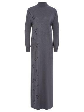 Платье-водолазка в пол