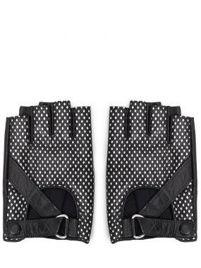 Перчатки-митенки кожаные
