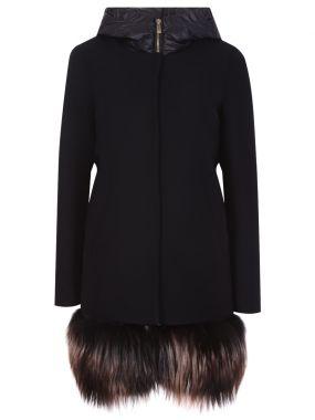 Шерстяное пальто с жилетом