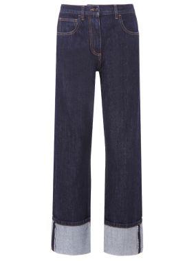 Широкие джинсы прямого кроя