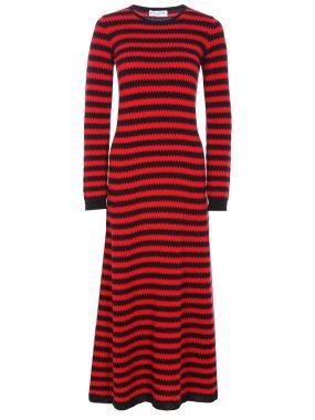 Платье кашемировое в полоску