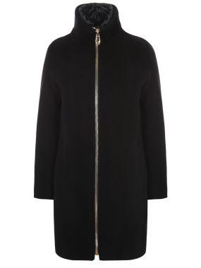 Утепленное пальто из шерсти