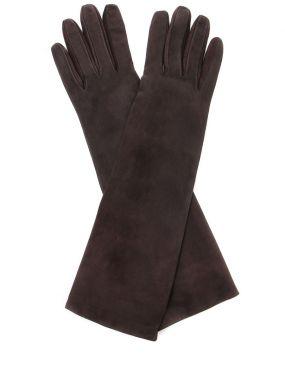Перчатки замшевые удлинённые