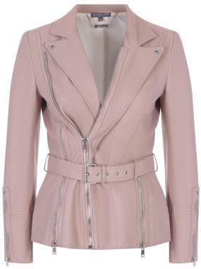 Кожаная куртка-косуха с ремнем