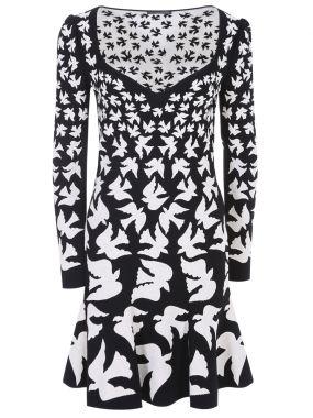 Трикотажное платье с рисунком