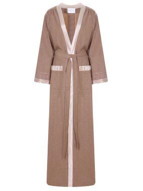 Платье-кимоно из шерсти