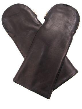 Варежки кожаные на меху