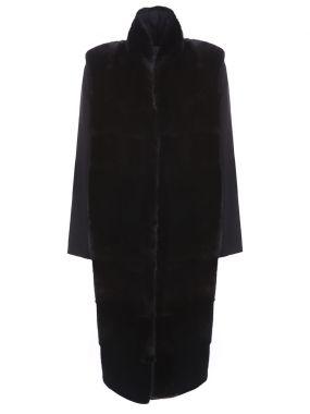 Пальто и меховой жилет