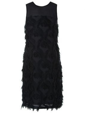 Платье коктейльное с бахромой