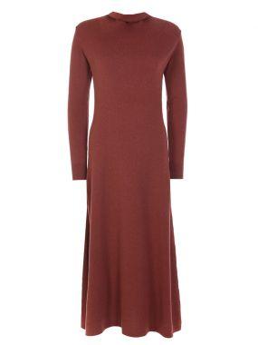 Кашемировое платье-макси