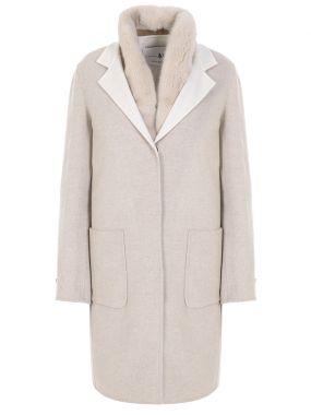 Пальто и норковый жилет