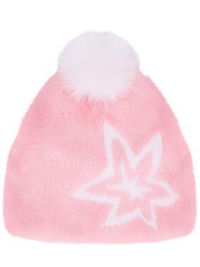 Норковая шапка с помпоном
