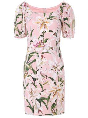 Платье-мини с цветами