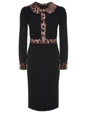 Платье-футляр трикотажное