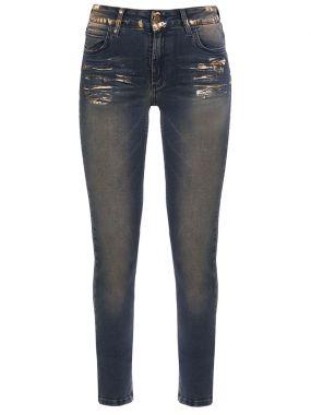 Хлопковые джинсы skinny fit