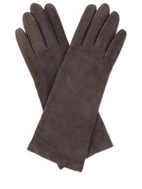 Перчатки удлинённые замшевые