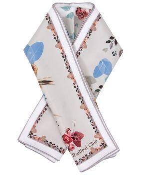 Платок шелковый с принтом